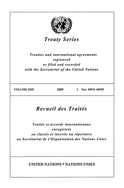 TREATY SERIES 2635 I 46921-46928