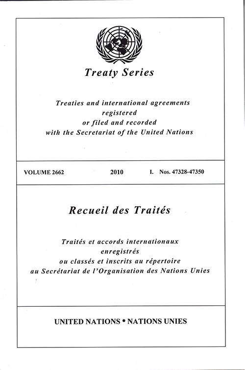 TREATY SERIES 2662 I 47328-47350