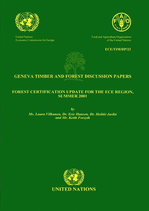 FOREST CERTIFICATION UPDATE FOR