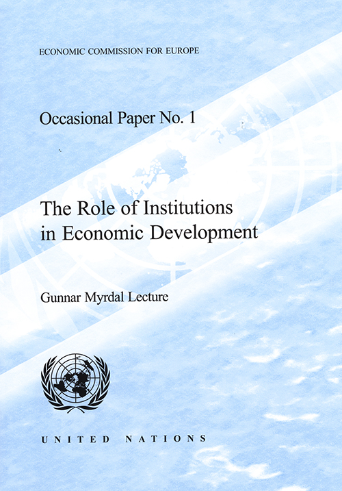 ROLE INSTITUTIONS IN ECON DEV