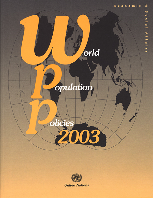 WORLD POPULAT POLICIES 2003