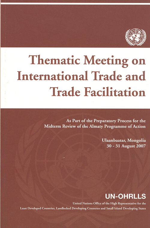 THEMATIC MEETING ON INTL TRADE