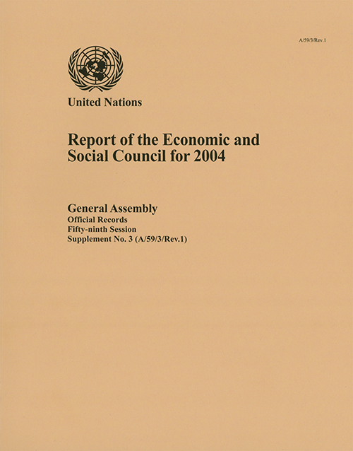 GAOR 59TH SUPP3 ECOSOC 2004