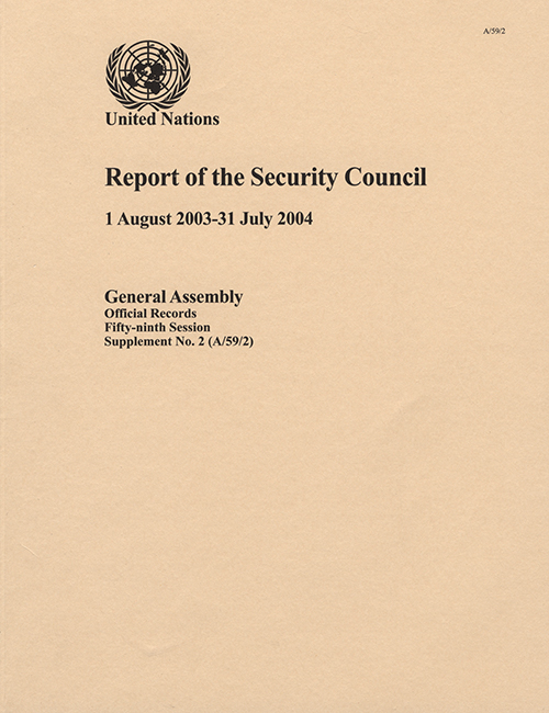 GAOR 59TH SUPP2 SECURITY COUNCIL