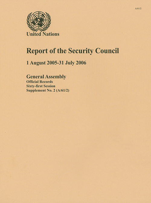 GAOR 61ST SUPP2 SECURITY COUNCIL
