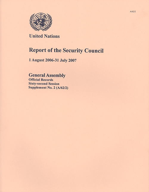 GAOR 62ND SUPP2 SECURITY COUNCIL