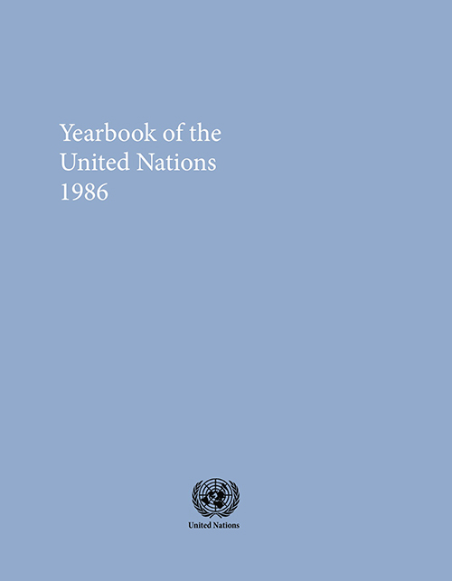 UNITED NATIONS YRBK 1986 V40