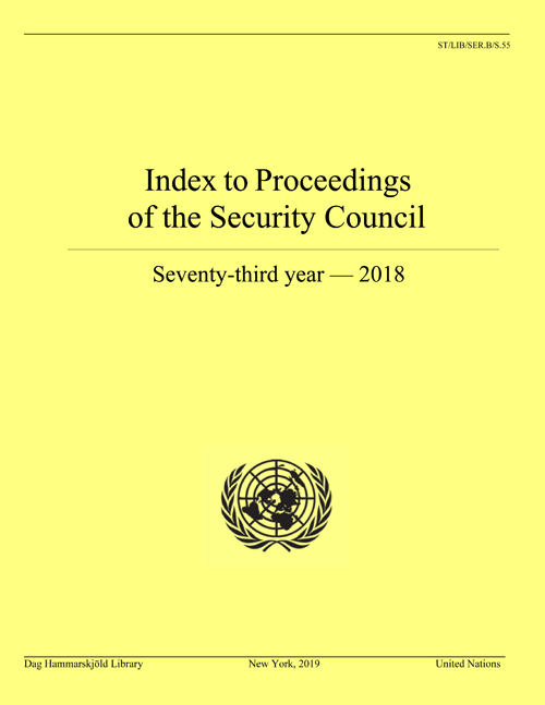 INDEX PROC SECURITY COUNCIL 2018