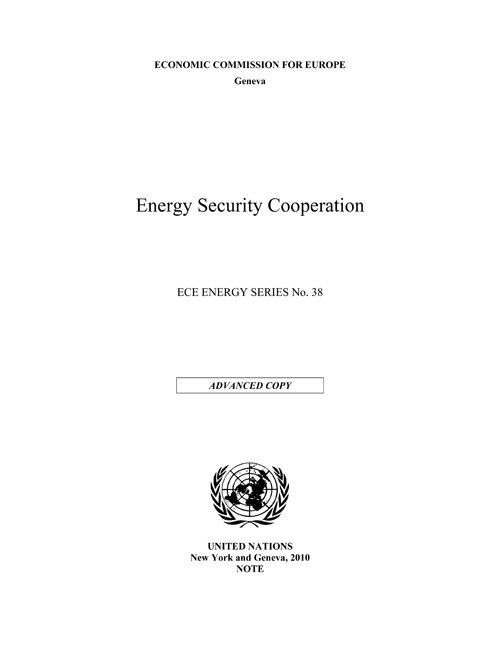 ENERGY SECURITY COOPERATION