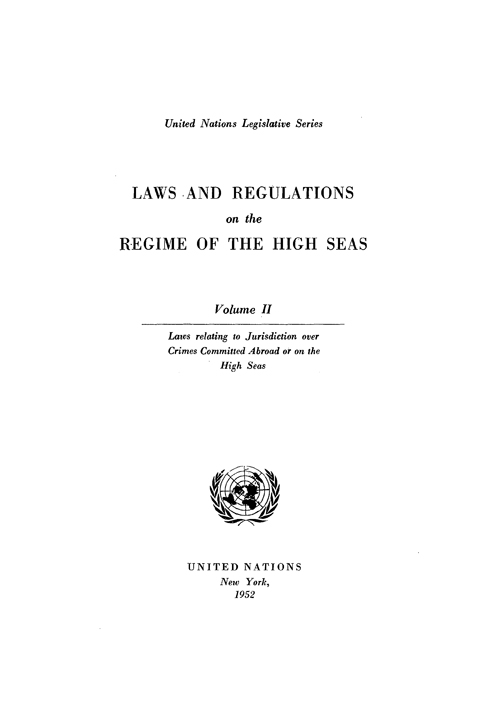 LAWS & REGULAT REGIME HIGH SEAS V2
