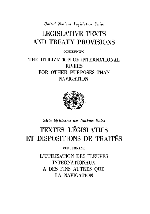 LEGISLATIVE TEXTS & TREATY PROV CO