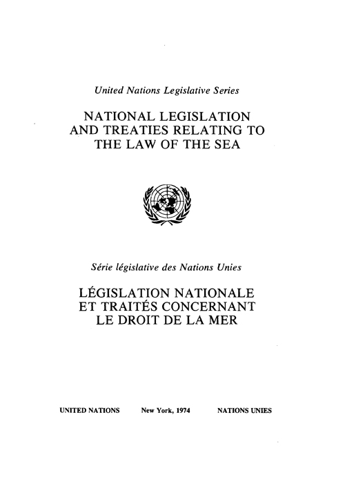 NATION LEGISL & TREATIES RELATING
