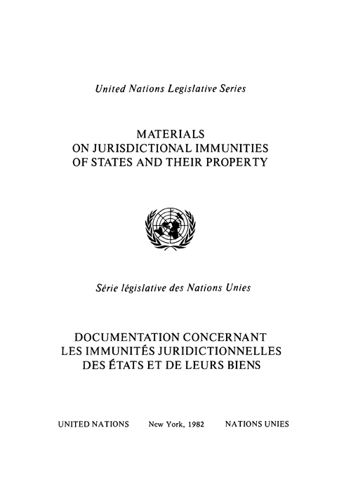 MATERIALS JURISDICTIONAL IMMUNITIE