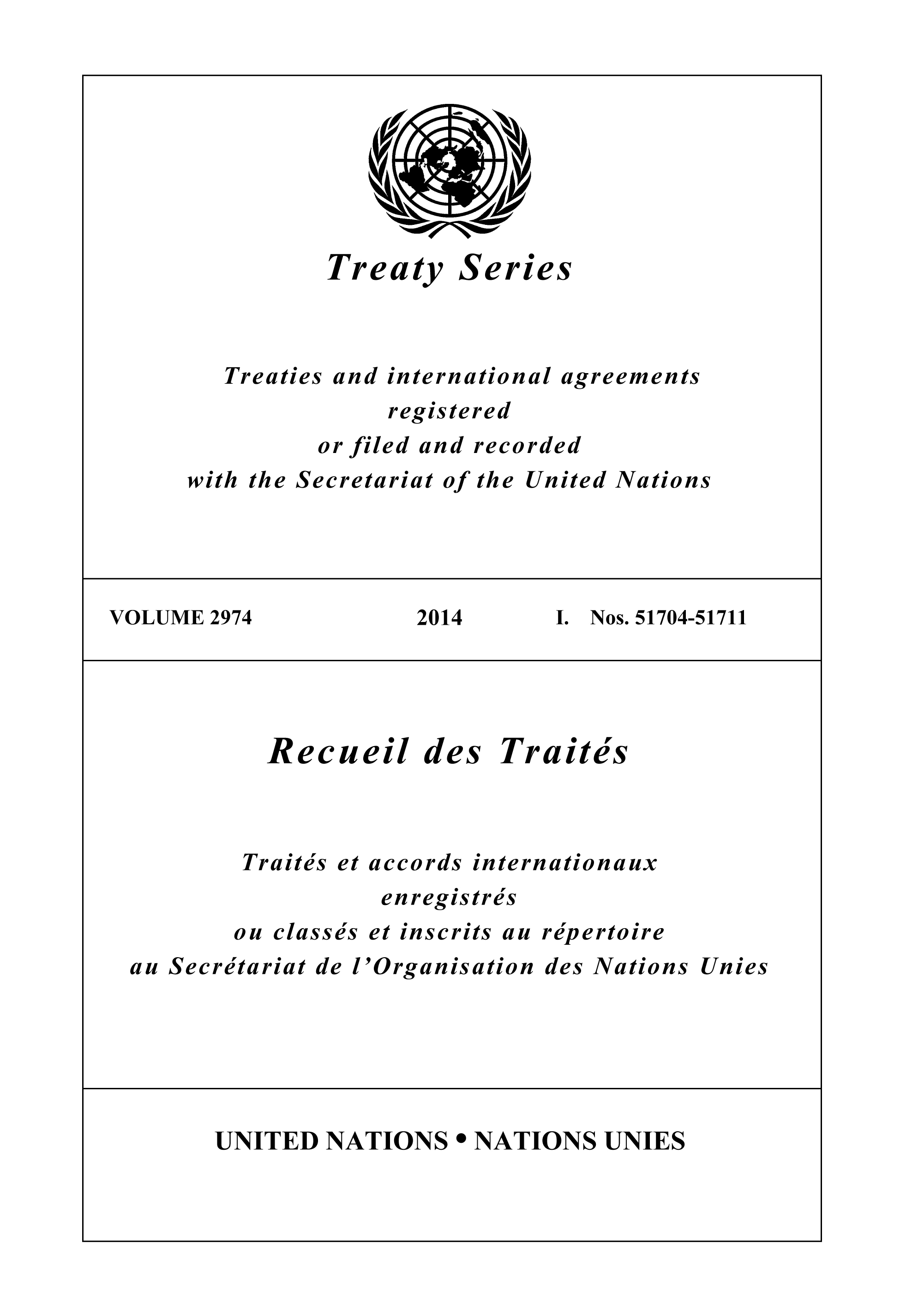 TREATY SERIES 2974