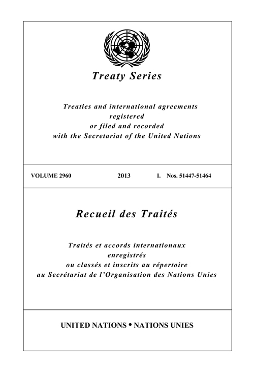 TREATY SERIES 2960