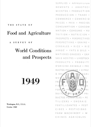 STATE OF FOOD & AGRICULTURE 1949