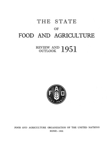 STATE OF FOOD & AGRICULTURE 1951