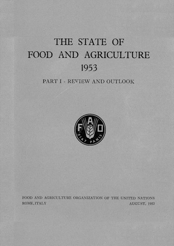 STATE OF FOOD & AGRICULTURE 1953
