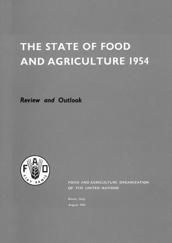 STATE OF FOOD & AGRICULTURE 1954