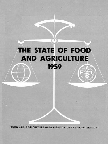 STATE OF FOOD & AGRICULTURE 1959