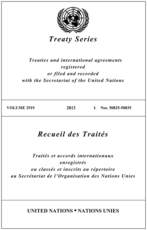 TREATY SERIES 2919
