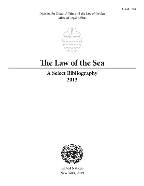 LAW OF THE SEA SELECT BIBL 2013