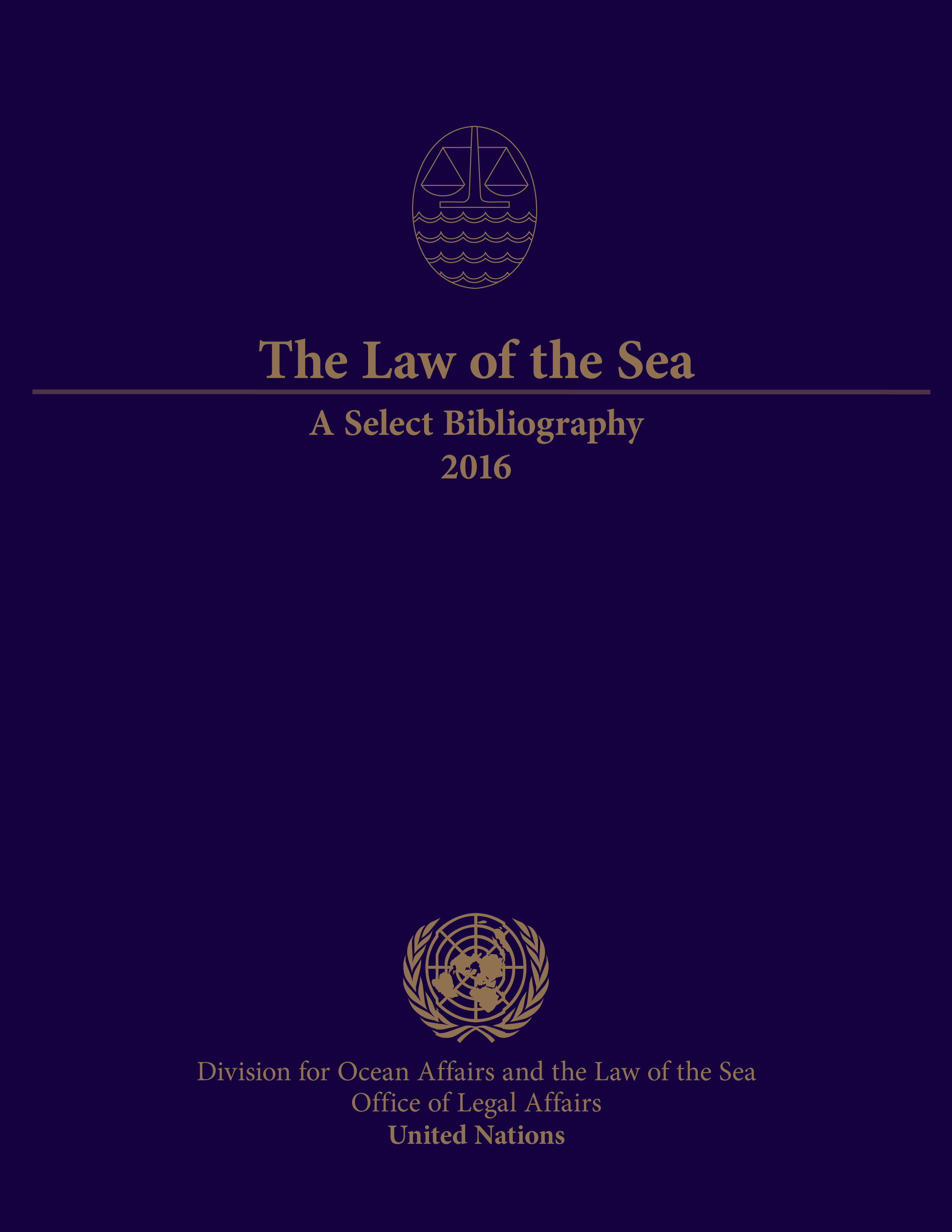 LAW OF THE SEA SELECT BIBL 2016