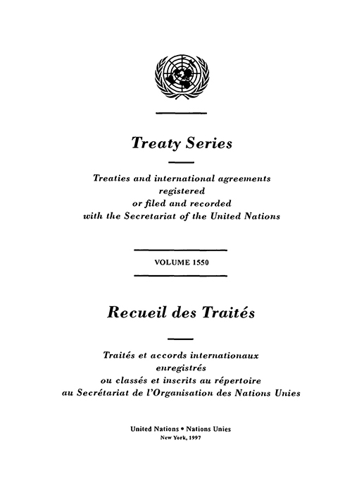 TREATY SERIES 1550