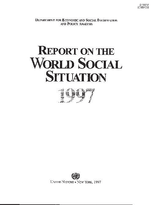 RPT WORLD SOCIAL SITUATION 1997