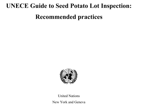 UNECE GUIDE SEED POTATO LOT INS