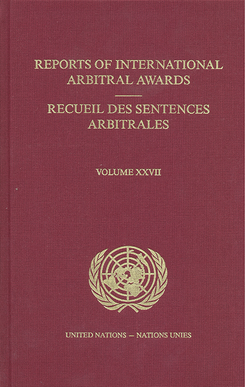 RPT INTL ARBITRAL AWARDS #27