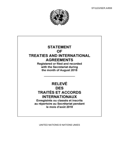 STATEMENT OF TREATIES AUG 2018