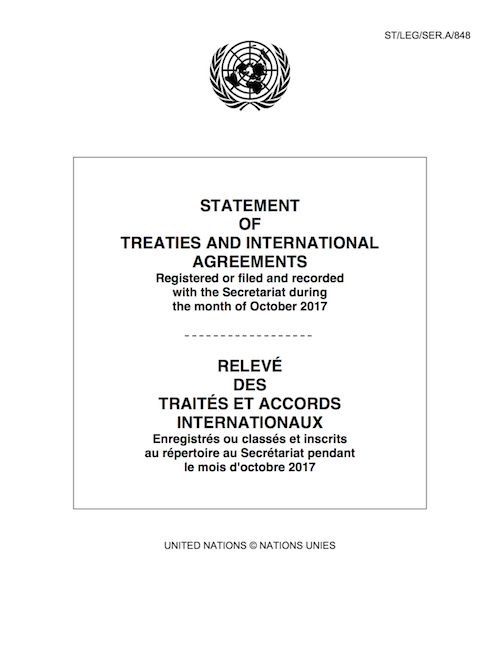 STATEMENT OF TREATIES OCT 2017