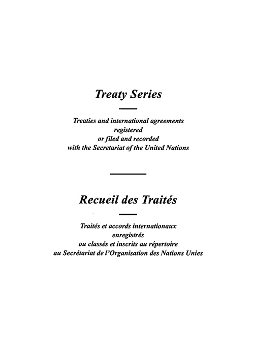 TREATY SERIES 1573