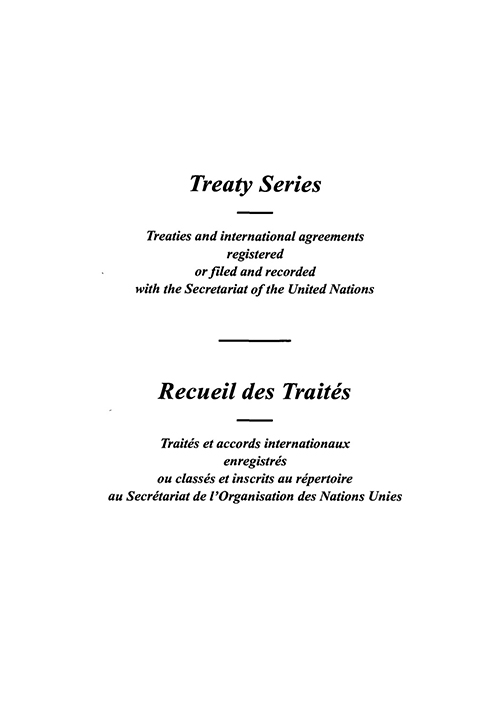 TREATY SERIES 1580