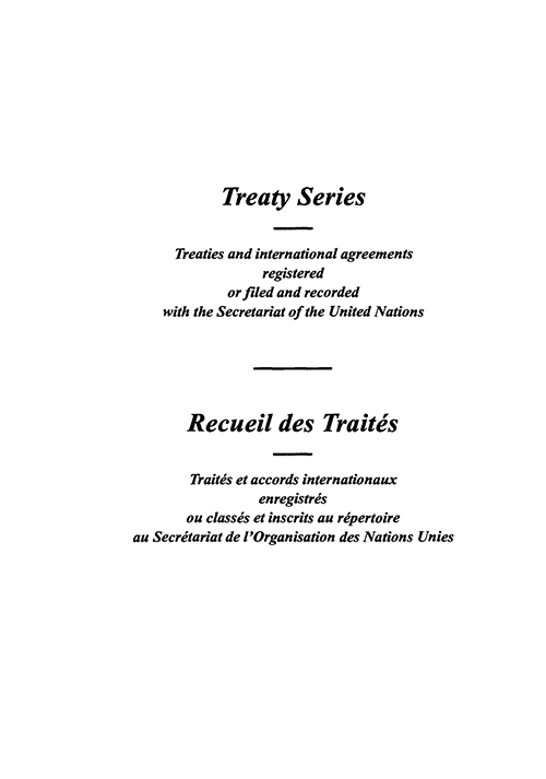 TREATY SERIES 1601