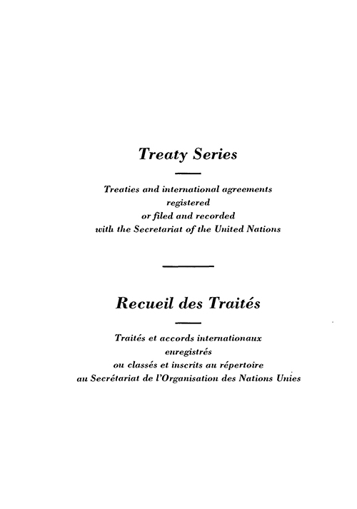 TREATY SERIES 1622