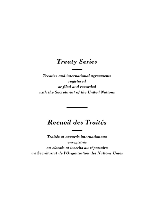 TREATY SERIES 1629