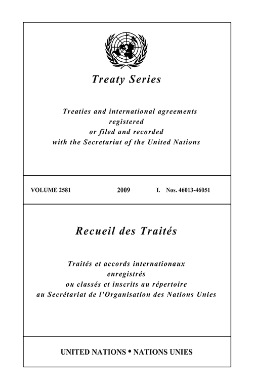 TREATY SERIES 2581 I 46013-46051