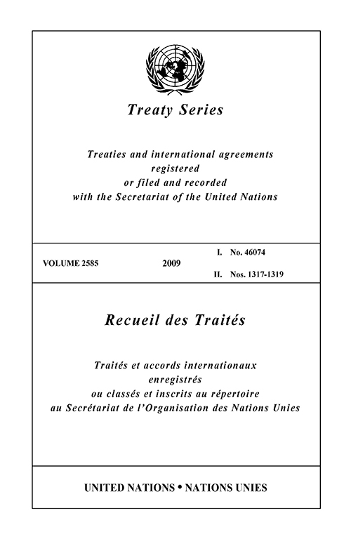 TREATY SERIES 2585 I 46074 1317-19
