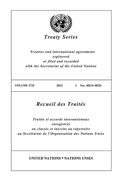TREATY SERIES 2725