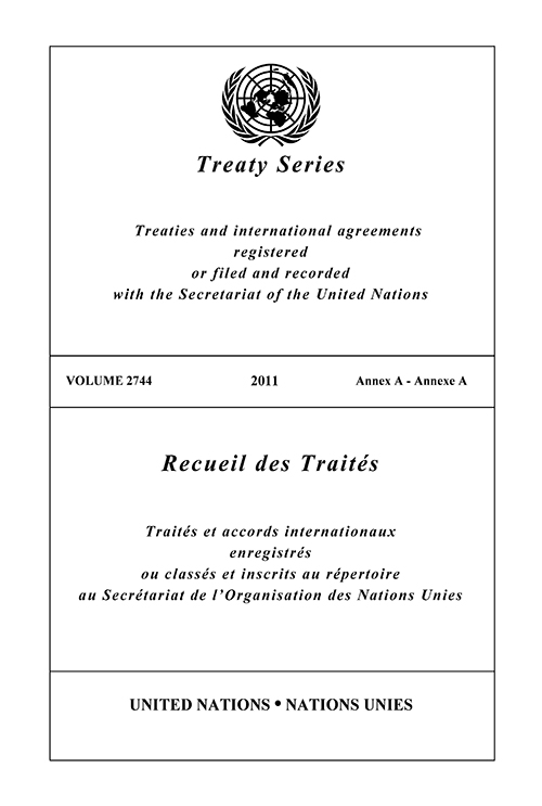 TREATY SERIES 2744