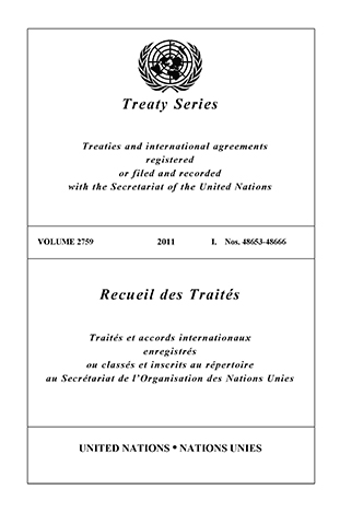 TREATY SERIES 2759