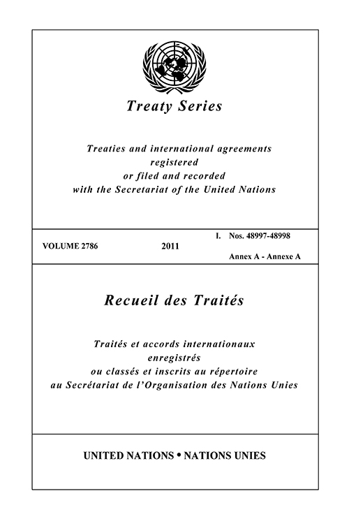 TREATY SERIES 2786