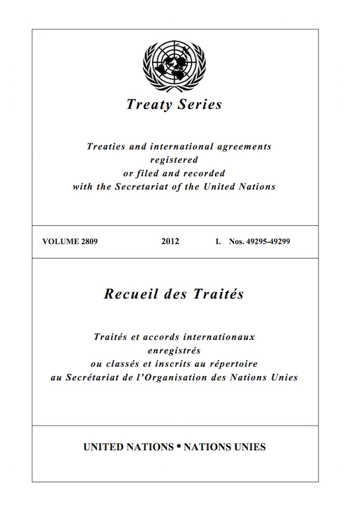 TREATY SERIES 2809