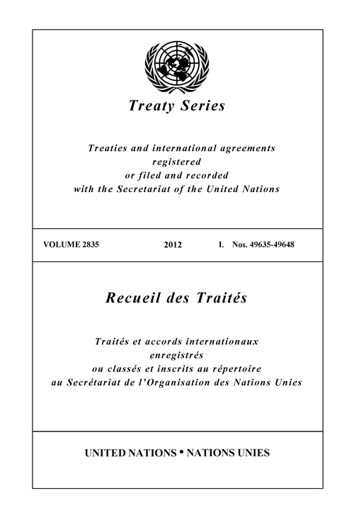 TREATY SERIES 2835