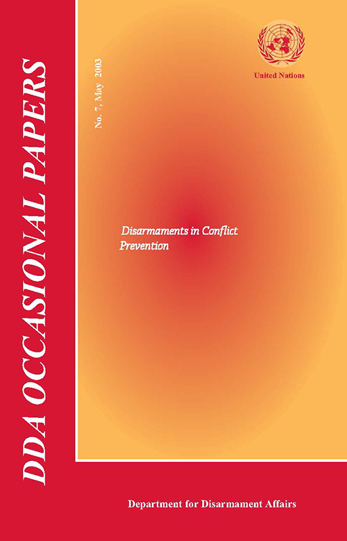 ODA OCCASIONAL PAPERS #7 2003