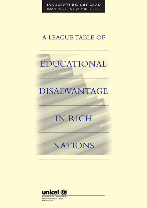 LEAGUE TABLE OF EDUCATIONAL DISADV