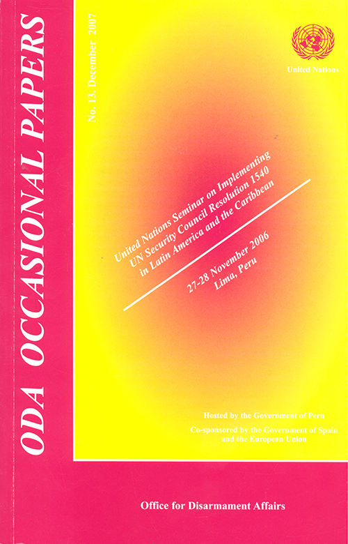 ODA OCCASIONAL PAPERS #13 2007