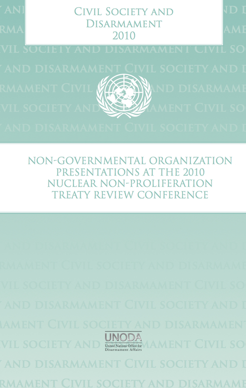 CIVIL SOCIETY & DISARMAMENT 2010